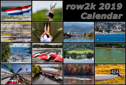 2019 row2k rowing calendar