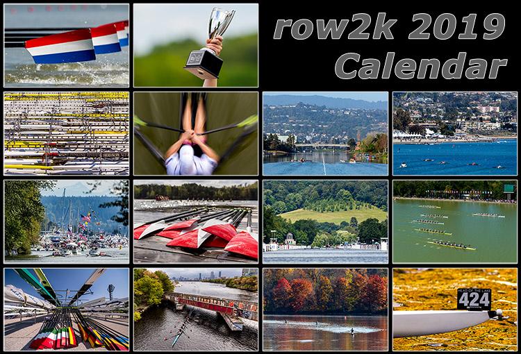 2019 row2k rowing calendar